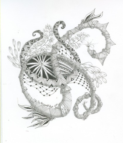 Dragon Zentangle
